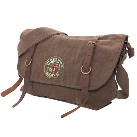 Vintage Canvas Explorer Shoulder Bag