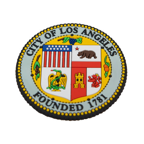 LA City Seal Textured Magnet