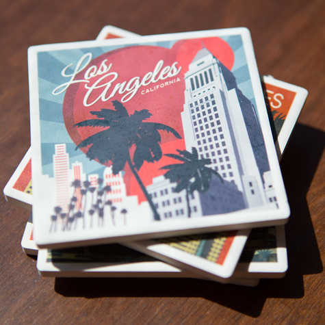 Los Angeles City Hall Coaster Set