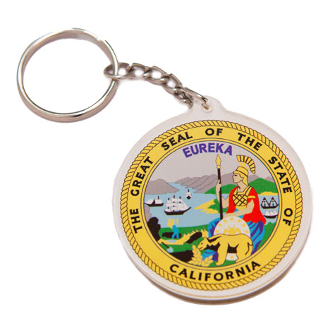CA State Seal Keychain