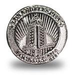 LA Hall Lapel Pin-Silver