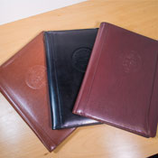 Embossed City Seal Leather Portfolio
