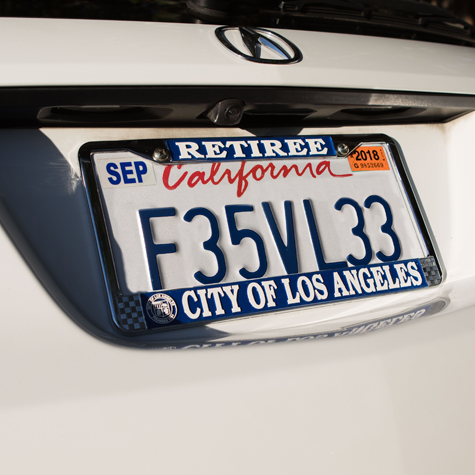 License Plate Frame - LA City Retiree