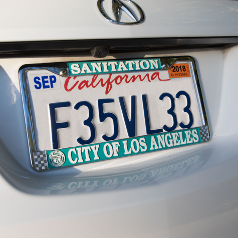 License Plate Frame - LA City Sanitation Dept.