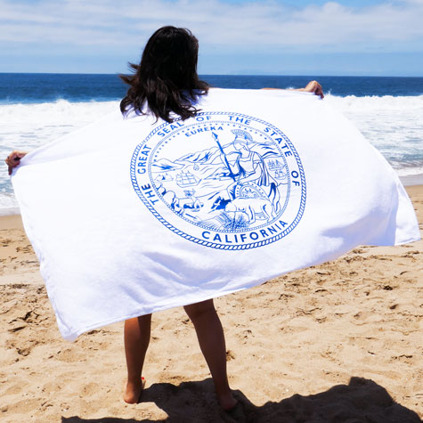 Beach Towel with State of California Seal